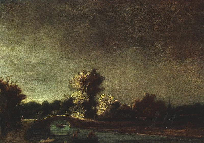 Rembrandt Landscape with a Stone Bridge