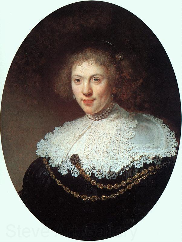 Rembrandt Woman Wearing a Gold Chain