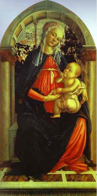 Sandro Botticelli Madonna of the Rosegarden