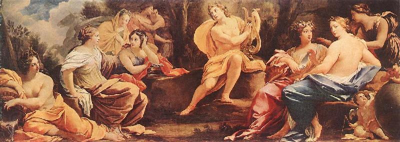 Simon Vouet Parnassus or Apollo and the Muses