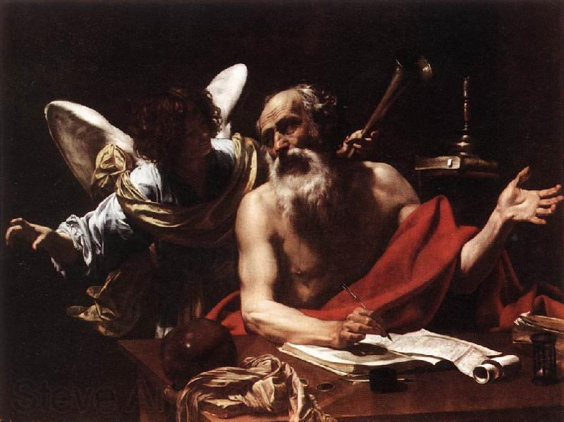 Simon Vouet St Jerome and the Angel