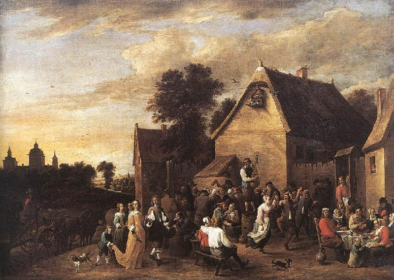 TENIERS, David the Younger Flemish Kermess fh