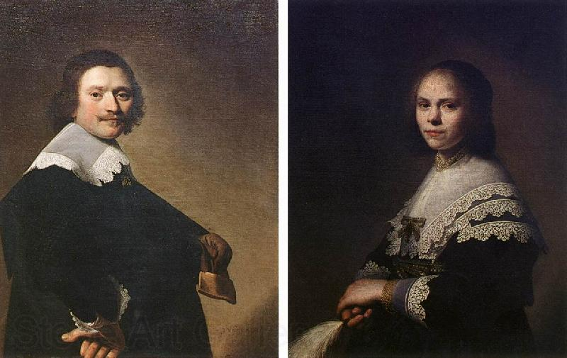 VERSPRONCK, Jan Cornelisz Portrait of a Man and Portrait of a Woman  wer