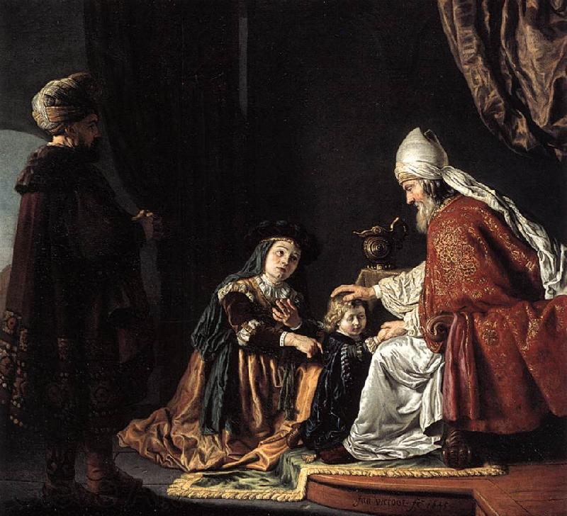 VICTORS, Jan Hannah Giving Her Son Samuel to the Priest ar