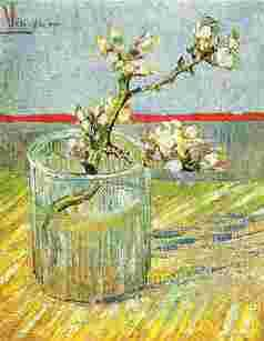 Vincent Van Gogh Blooming Almond Stem in a Glass