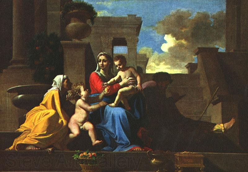 POUSSIN, Nicolas Holy Family on the Steps af