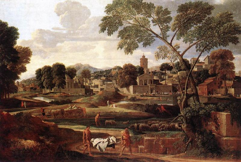 POUSSIN, Nicolas Landscape with the Funeral of Phocion af
