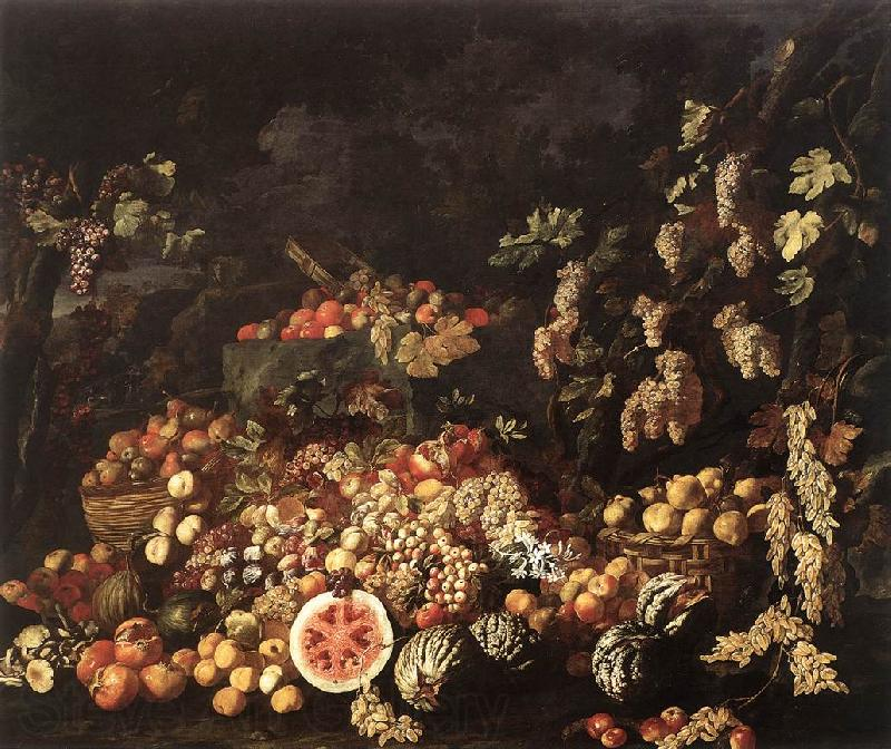RECCO, Giuseppe Still-Life with Fruit and Flowers