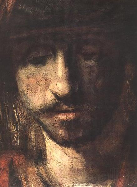 REMBRANDT Harmenszoon van Rijn David and Uriah (detail