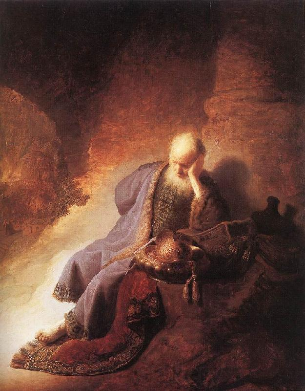 REMBRANDT Harmenszoon van Rijn Jeremiah Lamenting the Destruction of Jerusalem g