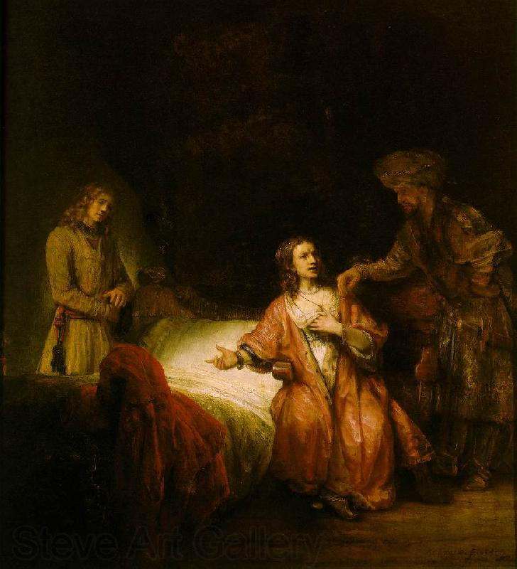 REMBRANDT Harmenszoon van Rijn Joseph Accused by Potiphar's Wife
