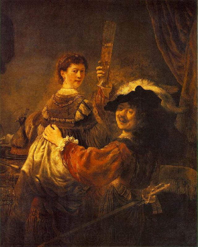 REMBRANDT Harmenszoon van Rijn Rembrandt and Saskia in the Scene of the Prodigal Son in the Tavern dh