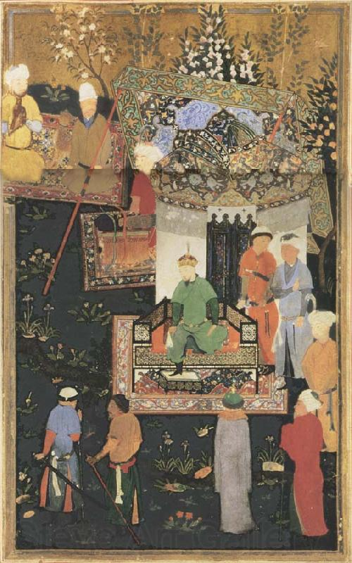 Bihzad Timur enthroned