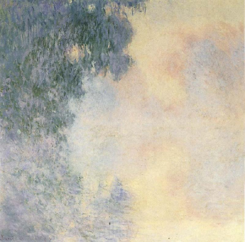 Claude Monet Arm of  the Seine near Giverny in the Fog