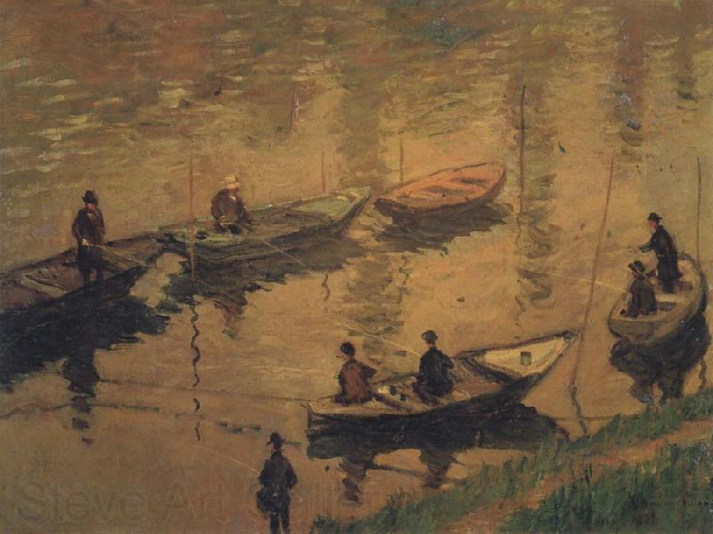 Claude Monet Anglers on the Seine at Poissy