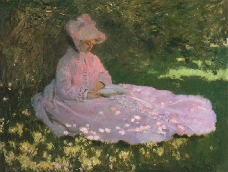 Claude Monet A Woman in a Garden,Spring time