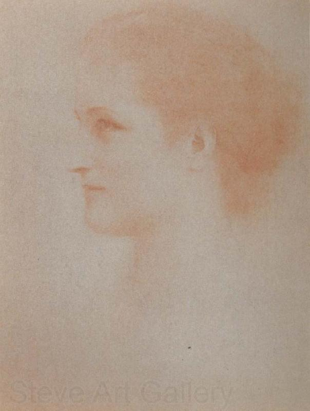 Fernand Khnopff Portrait of Countess Henri D Oultremont