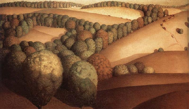Grant Wood Near the sunset