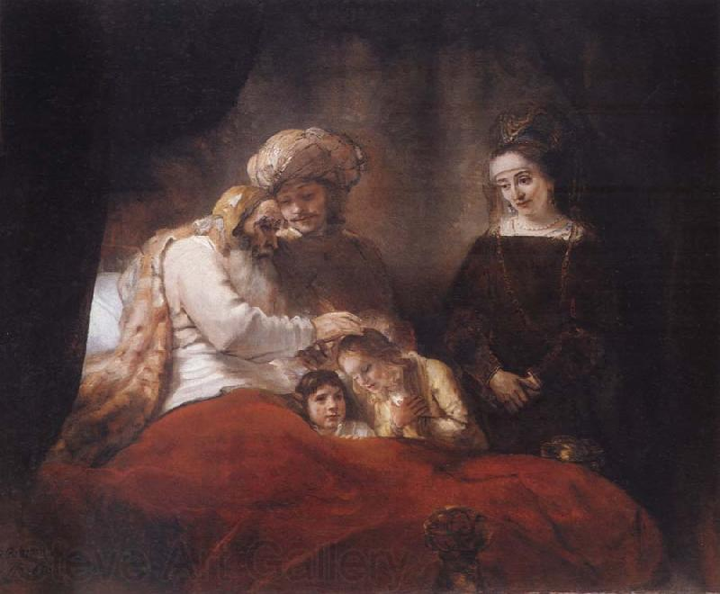 REMBRANDT Harmenszoon van Rijn Jacob Blessing the Sons of Joseph