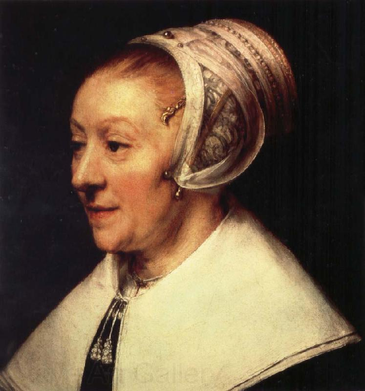 REMBRANDT Harmenszoon van Rijn Portrait of Catrina Hoogshaet at the Age of Fifty