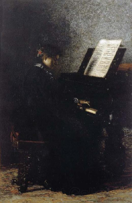 Thomas Eakins Elizabeth Play the Piano