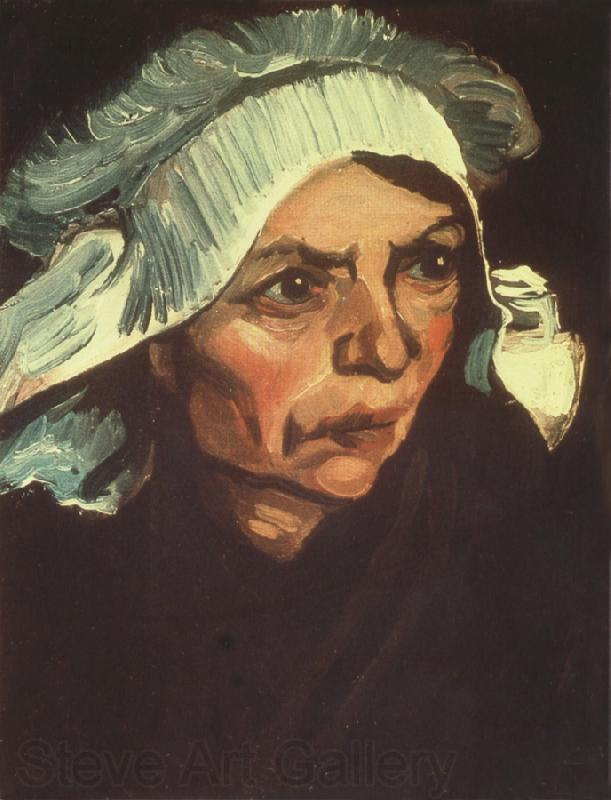 Vincent Van Gogh Head of a Peasant Woman with White Cap (nn04)