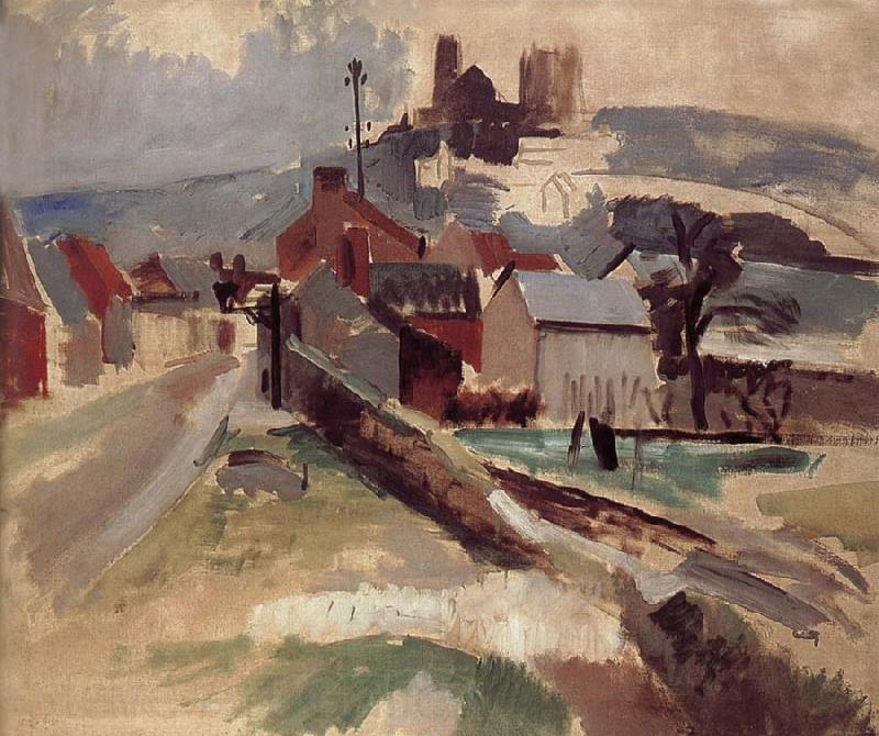 Delaunay, Robert Study of Road and church