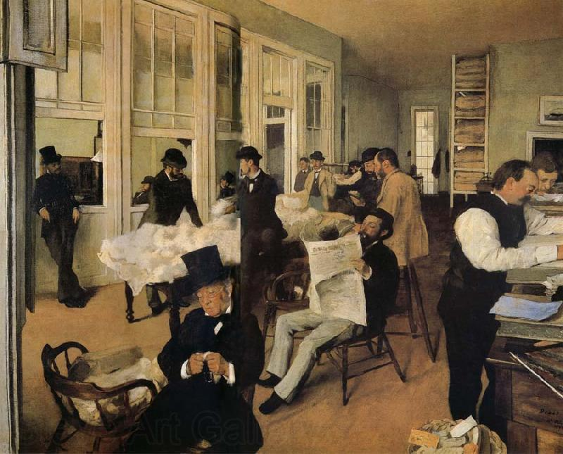 Edgar Degas The cotton company of New Orleans