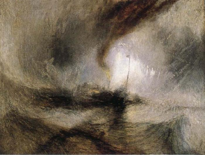 J.M.W. Turner Snow Storm-Steam-Boat off a Harbour-s Mouth
