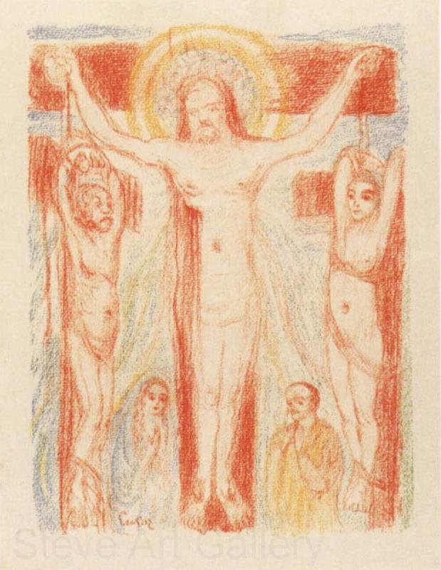 James Ensor Christ Crucified with Two Thieves