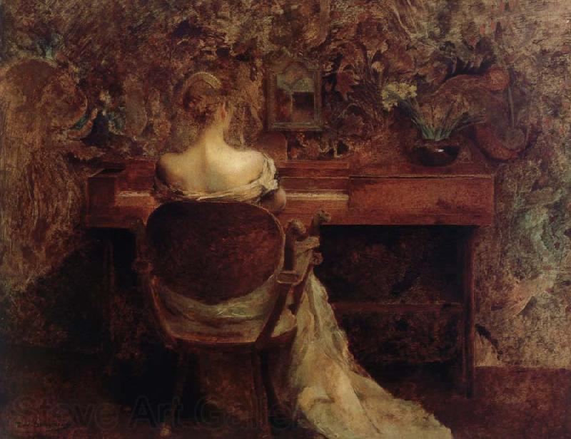 Thomas Wilmer Dewing The Spinet