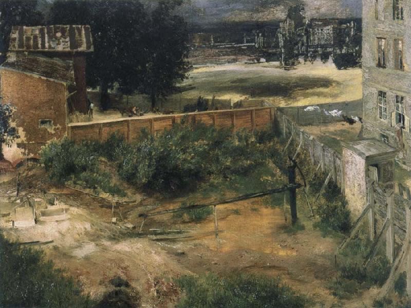 Adolph von Menzel Rear Counryard and House