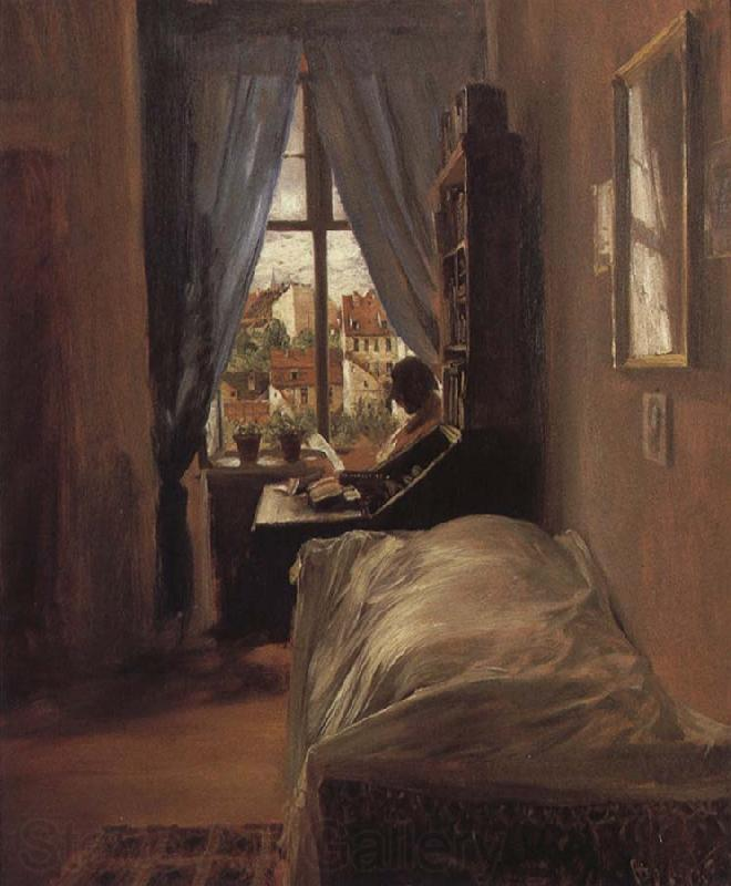 Adolph von Menzel The Artist-s Bedroom in the Ritterstrabe