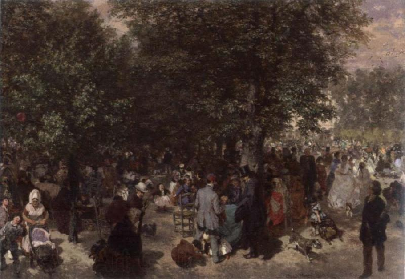 Adolph von Menzel Afternoon in the Tuileries Garden