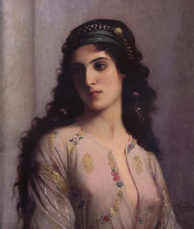 Charles Landelle Jewish Girl in Tangiers
