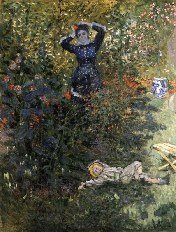 Claude Monet Camille and Jean Monet in the Garden at Argenteuil