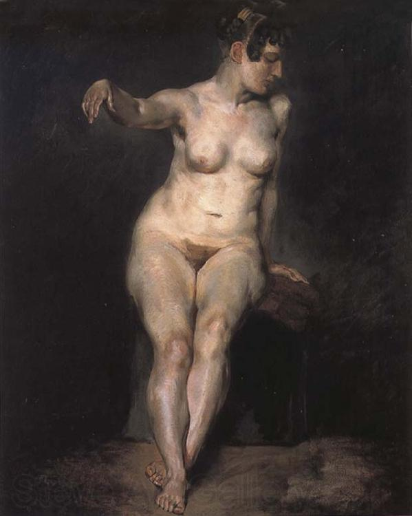 Eugene Delacroix Seated Nude