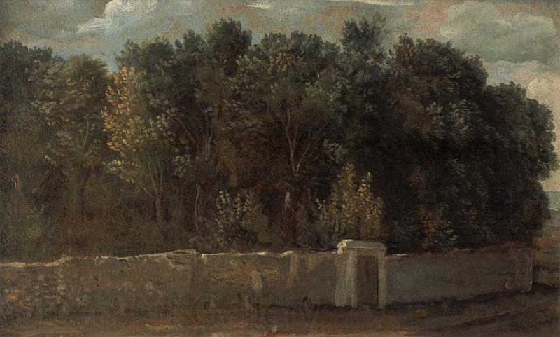 Francois Desportes Study of a Park,Surrounded by Walls