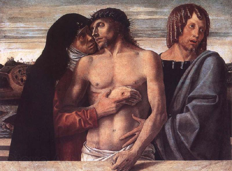 Giovanni Bellini Dead Christ Supported by the Madonna and St John