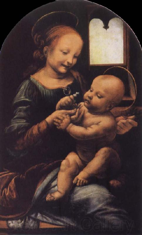 Leonardo  Da Vinci Madonna with a Flower