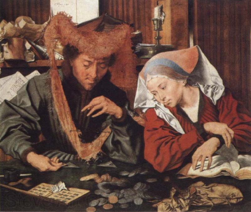 Marinus van Reymerswaele Money-changer and his wife