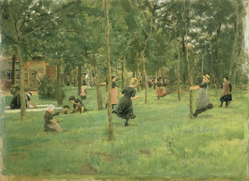 Max Liebermann Children Playing