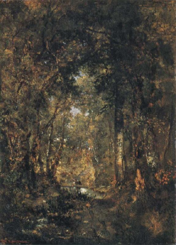 Theodore Rousseau In the Wood at Fontainebleau