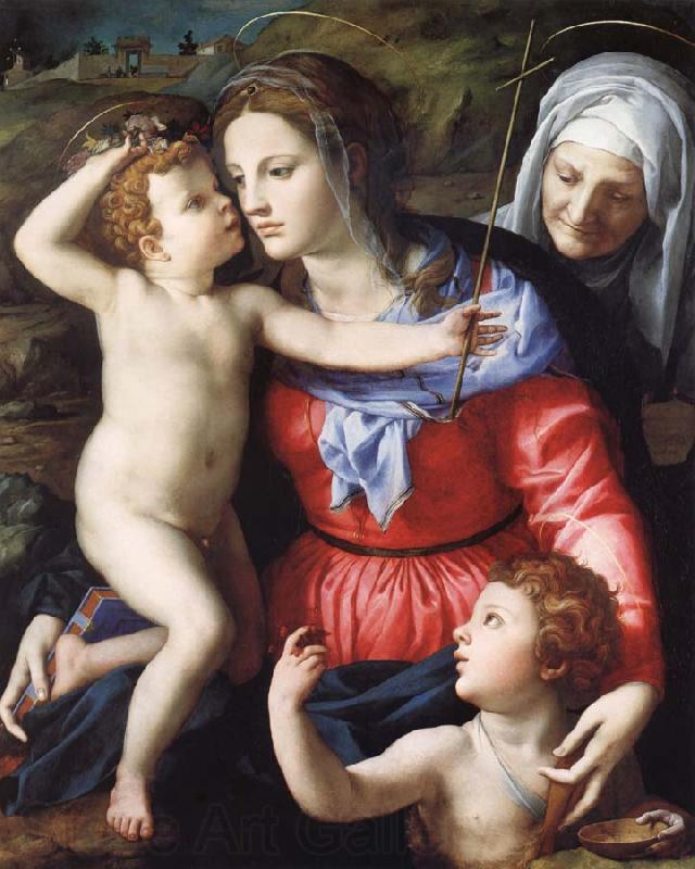 Agnolo Bronzino The Madonna and Child with Saint John the Baptist and Saint Anne