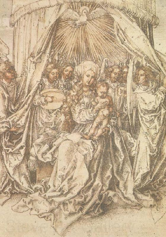 Albrecht Durer Madonna with musical Angels
