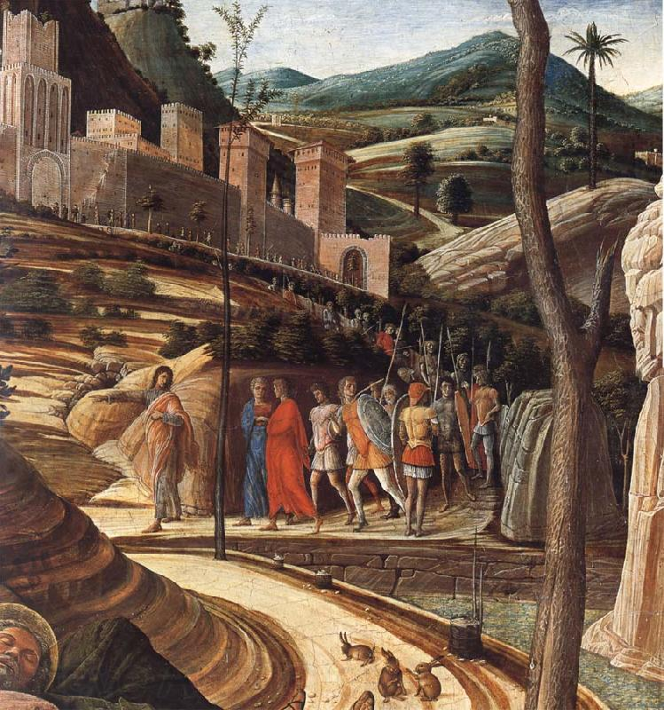 Andrea Mantegna Detail of The Agony in the Garden