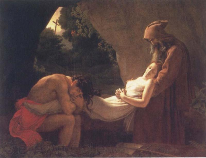 Anne-Louis Girodet-Trioson The Burial of Atala