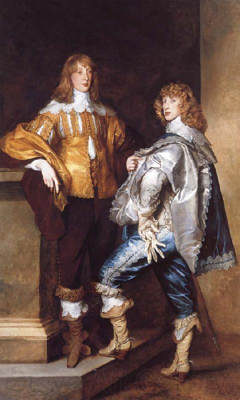 Anthony Van Dyck Lord John Stuart and His Brother,Lord Bernard Stuart
