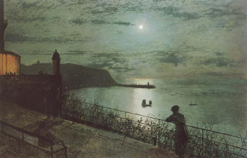 Atkinson Grimshaw Scarborough from Seats near the Grand Hotel