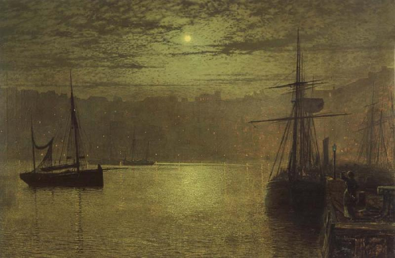 Atkinson Grimshaw Lights in the Harbour
